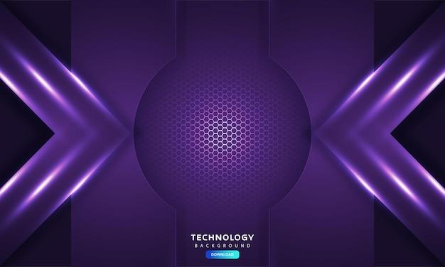 Dark purple light abstract hexagonal background