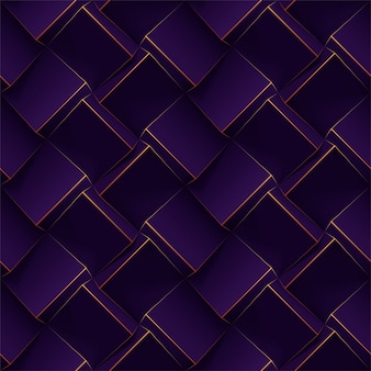 Dark purple seamless geometric pattern