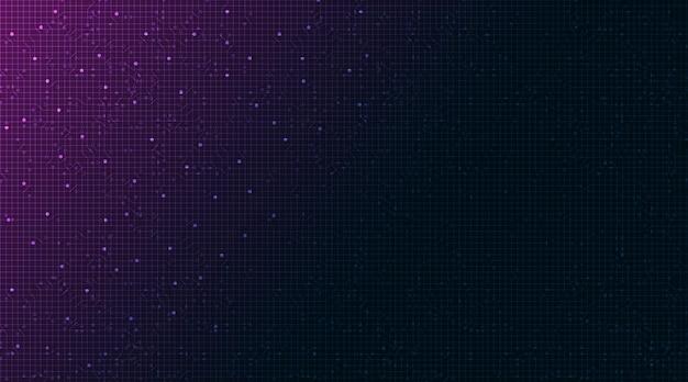 Dark purple technology background.