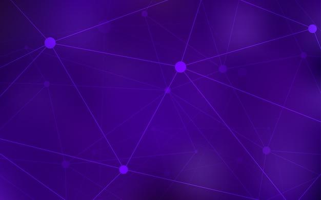 Dark purple vector background with bubbles