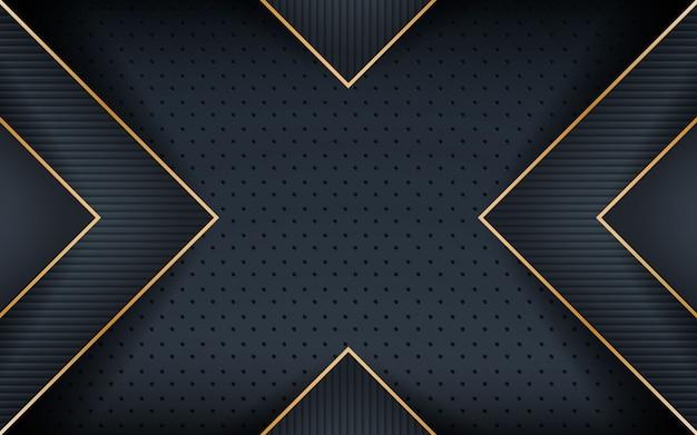織り目加工の形をした暗いのリアルなゴールデンライン