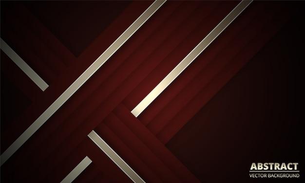 Темно красный абстрактный фон с золотыми и бордовыми линиями.