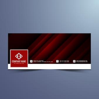 Dark red banner design for facebook timeline