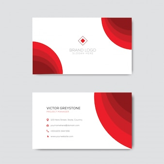 Dark red elegant business card