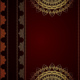 Dark red luxury mandala background