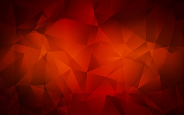 Dark red vector gradient triangles texture.