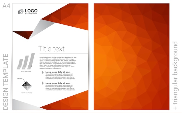 Dark red vector  layout for leaflets