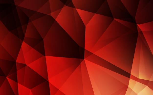 Dark red vector shining triangular layout.