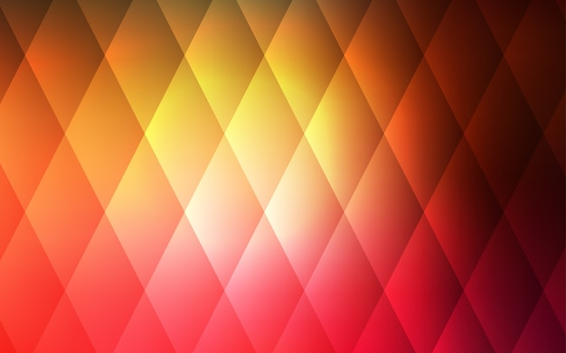 Dark red, yellow vector backdrop with rectangles, squares.