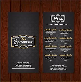Dark restaurant menu