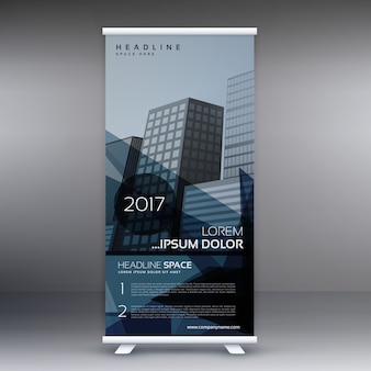 Dark roll up banner design
