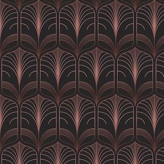 Dark rose gold art deco pattern