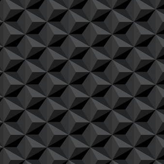 Dark seamless pattern with hexagons background