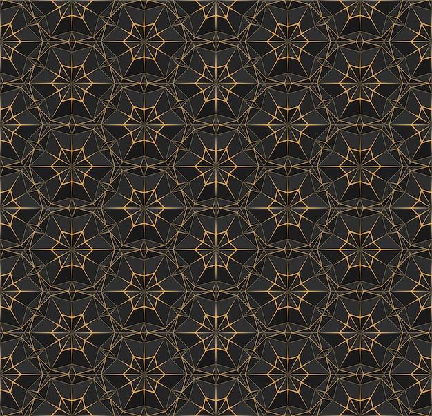 Dark seamless polygonal pattern with triangles