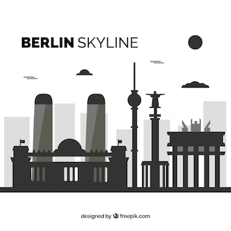 Dark skyline of berlin