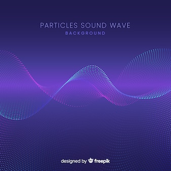 Dark sound particles wave background