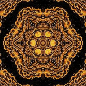 어두운 직선 패턴 기하학적 만화경입니다. 추상적인 배경입니다. 디자인을 위한 일러스트레이션
