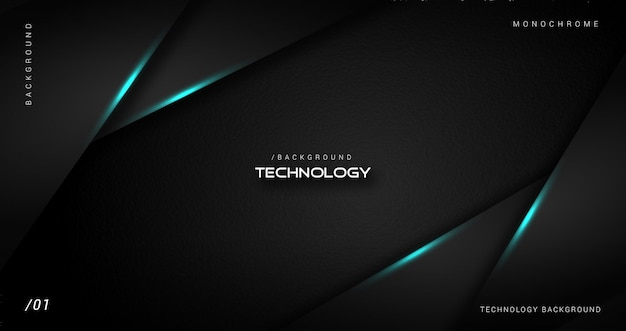 Dark stylish background with shiny blue line
