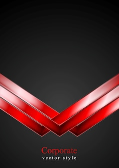 赤い矢印と暗い技術の背景。ベクトルイラスト