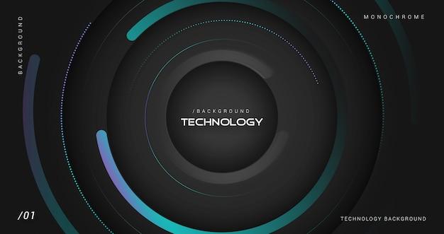Dark technology circle motion background