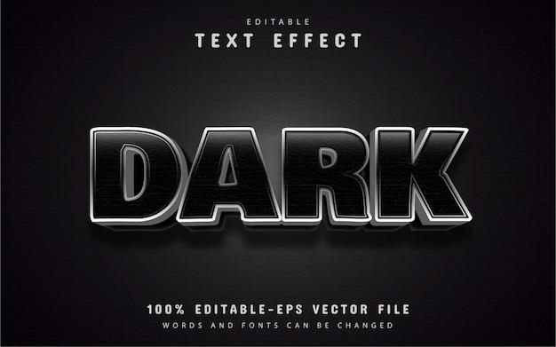 暗いテキスト、編集可能な3dテキスト効果
