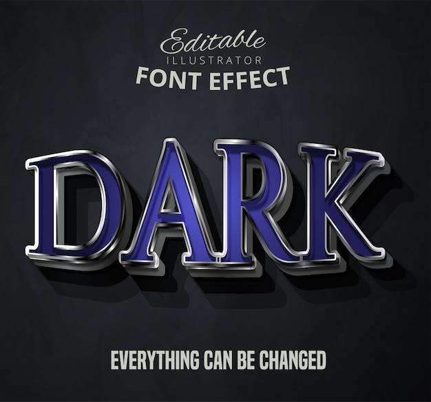 Dark text, editable font effect