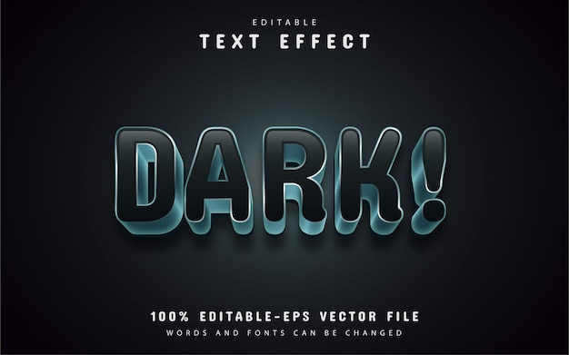 Dark text effect editable