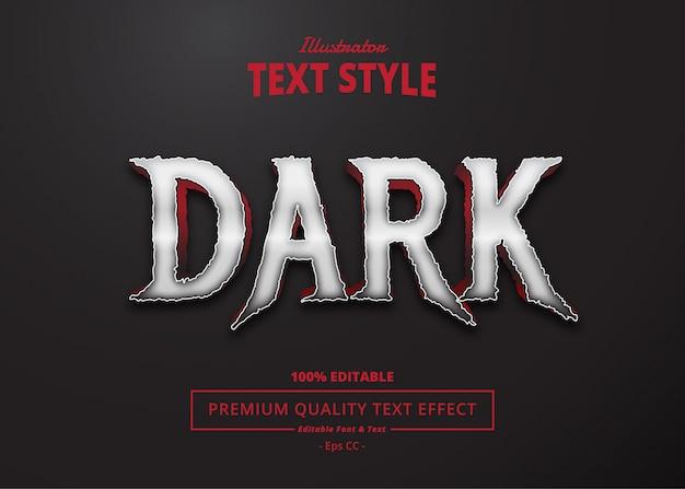 Dark text effect