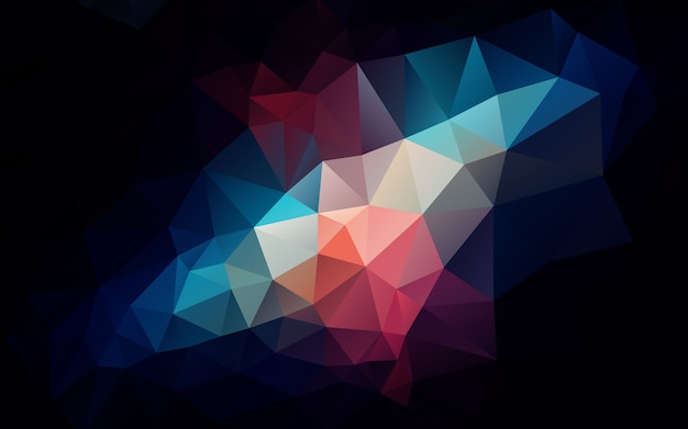 Dark theme low poly triangle shapes background