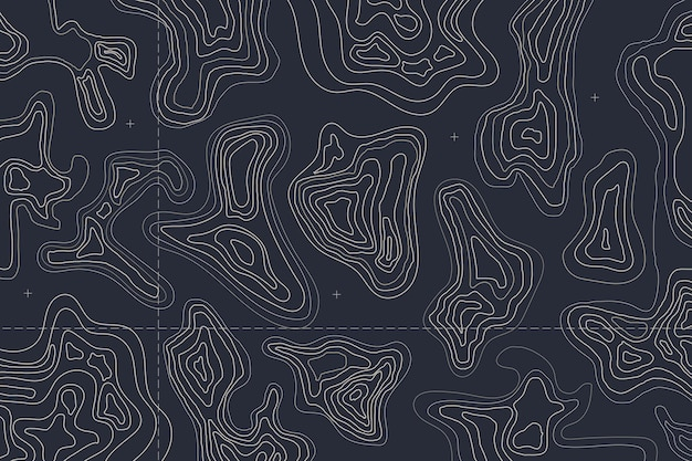 Dark topographic map background