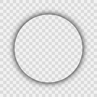 Темная прозрачная реалистичная тень. тень круга, изолированные на прозрачном фоне. векторная иллюстрация.
