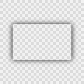 Dark transparent realistic shadow. rectangle shadow isolated on transparent background. vector illustration.