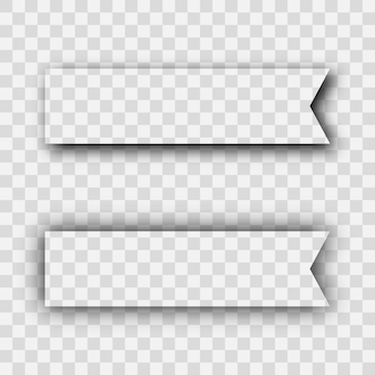 Dark transparent realistic shadow. set of two rectangles shadows  isolated on transparent background. vector illustration.