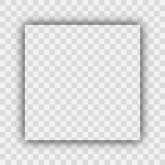 Dark transparent realistic shadow. square shadow isolated on transparent background. vector illustration.
