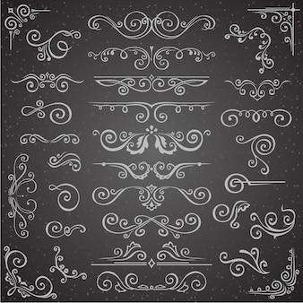 Dark vector set of swirl elements