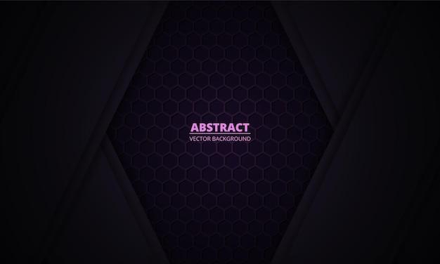 Темно-фиолетовый фон с шестигранной текстурой из углеродного волокна