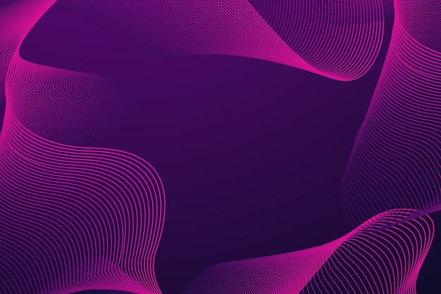 Dark violet wavy background with copy space