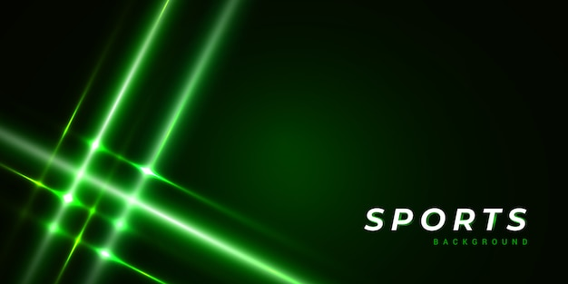 Dark virtual green abstract sports background