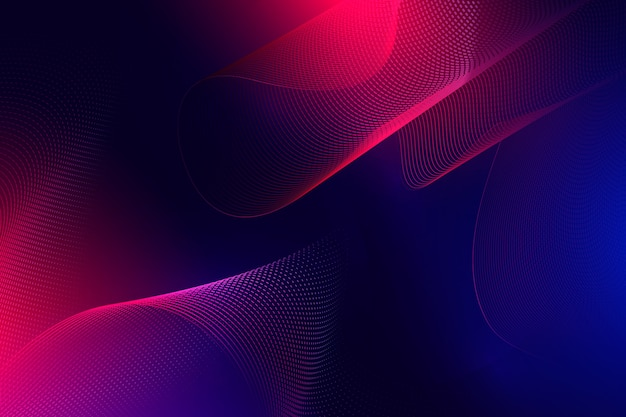Dark wavy background in gradient