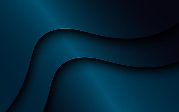 Dark wavy overlap background