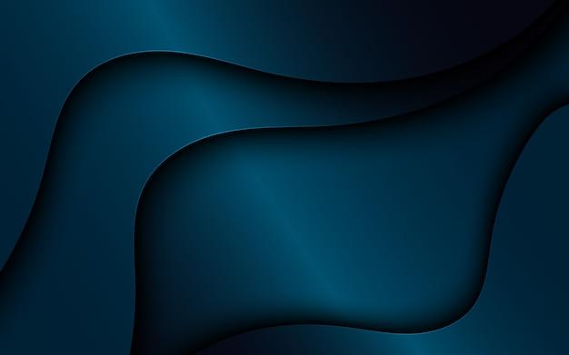 暗い波状のオーバーラップ背景