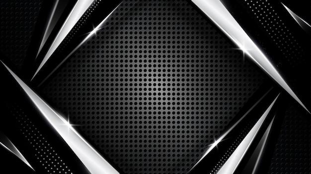 曲線の線で暗い効果シルバープラチナ形のベクトルの背景モダンで豪華なデザイン