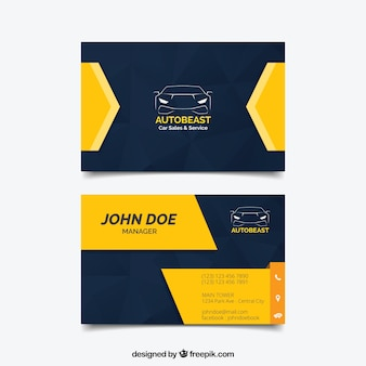 Dark and yellow business card design