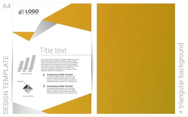 Dark yellow vector background for presentations