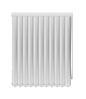 Darkening window blind curtains isolated on white background