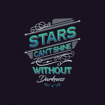 Darkness typography quote design