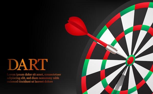 Дарт точный и успешный нацеливание на дартс. цель и цель делового рынка