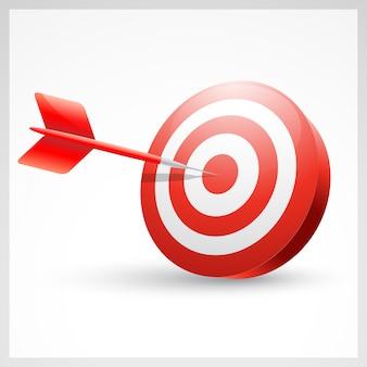 Dart success, dart in the center
