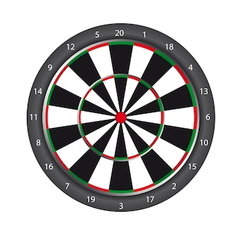 Dartboard isolated over white background vector illustration