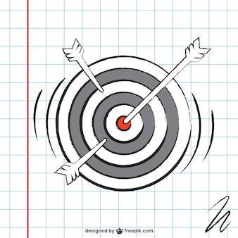 Dartboard sketch vector